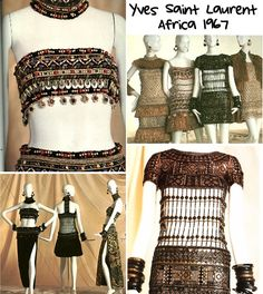 African influence. Yves Saint Laurent.