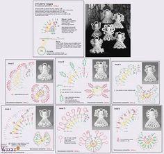 Crochet Tree, Crochet Angels, Crochet Ornaments, Crochet Snowflakes, Beaded Ornaments, Xmas Ornaments, Crochet Dolls, Crochet Crafts, Crochet Flowers
