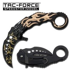 Cool! :)) Pin This & Follow Us! zCamping.com is your Camping Product Gallery ;) CLICK IMAGE TWICE for Pricing and Info :) SEE A LARGER SELECTION of tactical knives at   http://zcamping.com/category/camping-categories/camping-knives-and-tools/tactical-knives/ -  #hunting #camping  #campingknives #campinggear  #campingaccessories - Skull with Flame Overlay Folding Knife 5″ Closed « zCamping.com