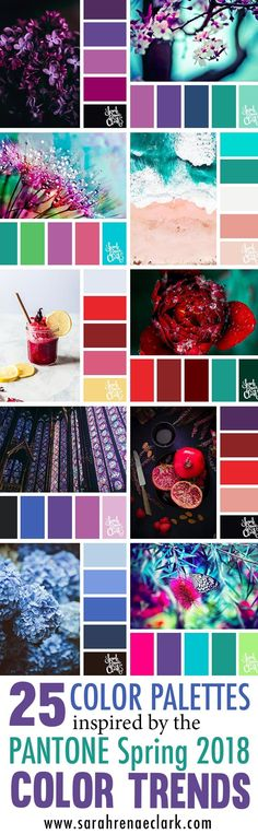 25 Color Palettes Inspired by the Pantone Spring 2018 Color Trends NY and London. 25 Color Palettes Inspired by the Pantone Spring 2018 Color Trends NY and London – Spring Color Palette, Colour Pallette, Spring Colors, Bedroom Colour Palette, Modern Color Palette, Color Trends 2018, 2018 Color, Design Trends 2018, Best Wedding Colors