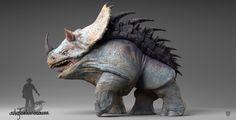 ArtStation - Ankylorhinosaure, Guillaume Verdier