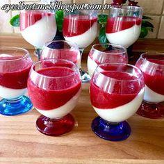Malzemeler:   1 lt süt   3 yemek kaşığı un   2 yemek kaşığı buğday nişastası   8 ye...