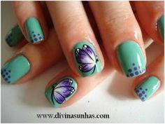 Uñas decoradas con mariposas | Miles de tics | TICS.NAME