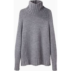 La Garçonne Moderne Didion Chunky Turtleneck ($460) ❤ liked on Polyvore featuring tops, sweaters, shirts, long sleeves, long sleeve turtleneck, long sleeve shirts, oversized shirt, wool long sleeve shirt and oversized sweaters