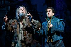Brad Oscar (left) as Nostradamus, and Brian d'Arcy James as Nick Bottom in Something Rotten. Photo by Joan Marcus Broadway Costumes, Musical Theatre Broadway, Broadway Nyc, Music Theater, Broadway Shows, Something Rotten Broadway, Metro Theatre, Les Miserables, Show Photos