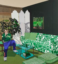 Jonas Wood- He paints interiors and creates the feeling of home. His style is what is surprising to me.