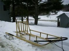 Maine Made Dog Sleds - Standard Dog Sleigh, Sled, Garden Bridge, Touring, Maine, Outdoor Structures, Dogs, Christmas, Lead Sled