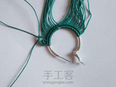 Freestyle 第10步 Macrame Earrings, Macrame Jewelry