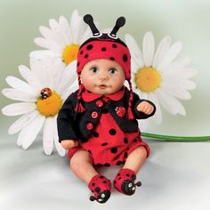 Ashton Drake WOW Shes as Cute as A Bug Lady Bug Baby Doll Resin and Cloth | eBay