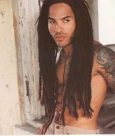 Lenny Kravitz - definitely partial to longer hair on men. Swoon, indeed.