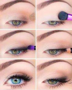 Eye makeup for beginners step by step - Make Up 2019 Eye Makeup Steps, Natural Eye Makeup, Makeup Tutorial Eyeliner, Eyeshadow Makeup, School Makeup Tutorial, Maybelline Eyeshadow, Yellow Eyeshadow, Eyeshadow Palette, Flawless Makeup
