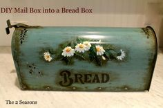 DIY project turn a  Mail Box into a Bread Box