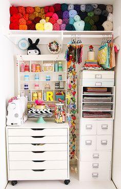 #papercraft #craftroom #studio.   Small Organized closet | Flickr - Photo Sharing!