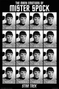 "FLM70030 ""Star Trek - Spock Emotions"" (24 X 36)"