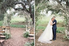ceremony arch in that environment = perfection, what it's all about, the environment. by sarah winward, honey of a thousand flowers