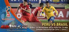 Prediksi Peru vs Brasil, Prediksi Skor Peru vs Brasil, Jadwal pertandingan Peru vs Brazil pada ajang kualifikasi Piala Dunia 2018 rencananya akan digelar pada Hari Rabu, 16 November 2016 Pukul 09:15 WIB bertempat di Estadio Nacional de Lima, ( Lima ).