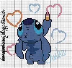 Thrilling Designing Your Own Cross Stitch Embroidery Patterns Ideas. Exhilarating Designing Your Own Cross Stitch Embroidery Patterns Ideas. Disney Stitch, Lilo Et Stitch, Beaded Cross Stitch, Cross Stitch Embroidery, Embroidery Patterns, Hand Embroidery, Disney Cross Stitch Patterns, Cross Stitch Designs, Modele Pixel Art