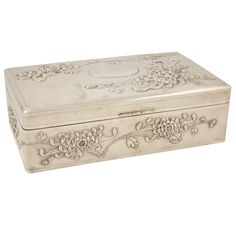Chinese Export Silver Box | From a unique collection of vintage more silver, flatware and silverplate at https://www.1stdibs.com/jewelry/silver-flatware-silverplate/more-silver-flatware-silverplate/