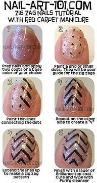 Chevron nail art - how to