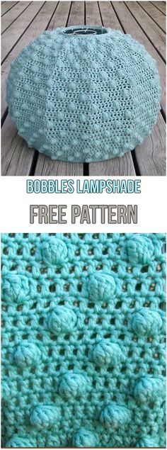 Bobbles Lampshade Free Pattern #crochet #crochetpattern #freepattern #bobbles #lampshade #lamps #lightingdesign