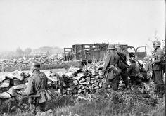German troops in Rossosch. Russia WW II