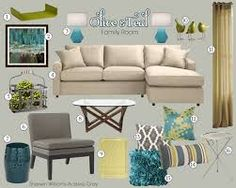 teal and beige home decoration - Cerca con Google