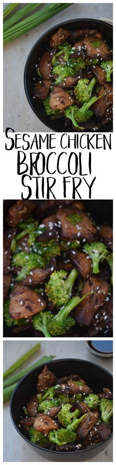 This Sesame Chicken Broccoli Stir Fry is a great and super easy family dinner idea, packed with flavor and way better than takeout.