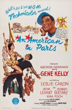 Poster of An American in Paris directed by Vincente Minnelli, 1951