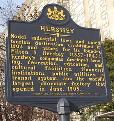 Hershey, Pennsylvania...be sure and roll down your windows when you drive through town!  June 2001