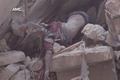 #Aleppo When the body combined with destroyed home #Russian_Iranian_Terror #UN_Terrorism_Org