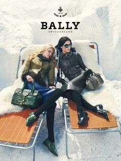 Ad Campaign: Bally F/W 12.13: Hilary Rhoda & Caroline Trentini By ...