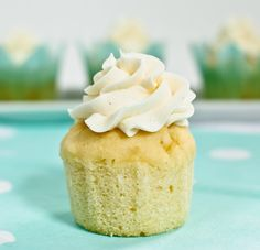 Coconut cream cupcake - would use coconut oil instead of butter