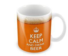 Keep Calm and Drink Beer-Tasse Kaffee Becher-Lustiges Geschenk