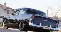 1956 Chevrolet Custom Sedan HP, Blower presented as lot at Anaheim, CA 2012 - Chevrolet Cruze, Chevrolet Bel Air, General Motors, Toyota, Volkswagen, 1955 Chevy, Automobile, Hot Rides, Drag Cars