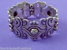 """Rare """"Maguey"""" Silver Bracelet by Hector Aguilar, Taxco Mexican, c. 1950"""