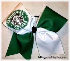 LOOK ARI ITS A STARBUCKS CHEER BOW!!!!!!!!