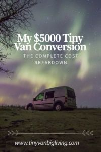 My 5000 Tiny Van Conversion The Complete Cost Breakdown Vanny Devito Is Now Little Home But Once Upon A Time She Was Nothing More Than