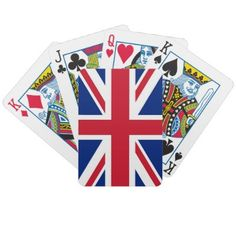 British Flag Playing Cards by WearFlags
