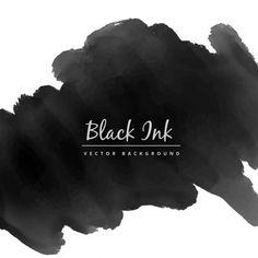 aquarelle encre noire Vecteur gratuit