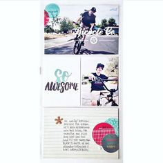 Did you know we have an entire page of FREE digital downloads for you?  It makes me smile to see @retrohipmama using my free photoshop biking stamps in the adorbs pocket layout mixed with @gossamerblue products. Triple Likes from me!!!! #bikelove #persnicketyprints #tellyourstory