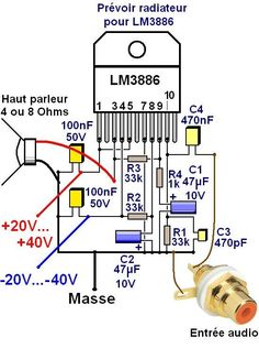 ampli lm3886 schema ultra simple 3