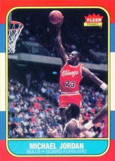 new arrival 7fed4 168cc Michael Jordan 1986 Fleer Rookie Card Sports Teams, Basketball Players,  Basketball Jones, Bulls