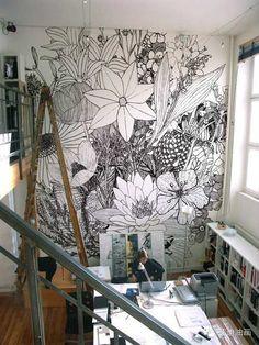 Vibrant Flower Wall Murals | - Tinyme Blog