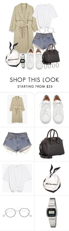 """Untitled #21519"" by florencia95 ❤ liked on Polyvore featuring Monki, Loeffler Randall, Levi's, Givenchy, Balenciaga, Ahlem, Casio and Forever 21"