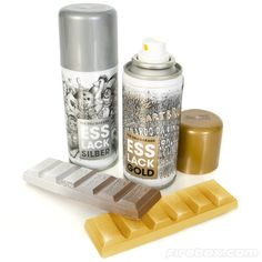 Shut the front door.... Bling out your food! Gold and silver edible spray paint for food.