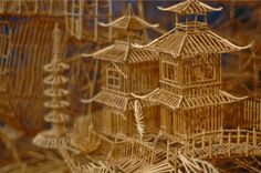 Toothpick Art Amazing sculpture made of toothpicks.To create this amazing sculpture that is a reflection of all the characters of. Taking Pictures, Cool Pictures, Toothpick Sculpture, Cure, Pick Art, Material Research, Craft Stick Crafts, Craft Sticks, Art Plastique