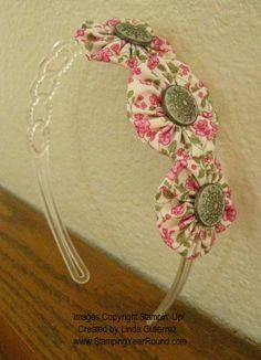 Fabric Yoyo Headband