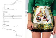 patron-Foulard - shorts
