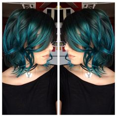 Pravana green and blue combo