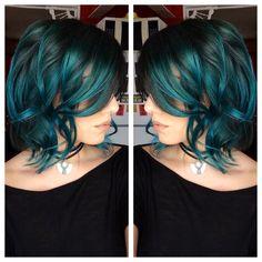 Pravana green and blue combo